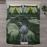 New Zealand Beautiful Black Huia Bird Bedding Set PCXW YUY BUBL