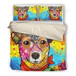 Jack Russell Drawing Bedding Set PAMO YUY BUBL
