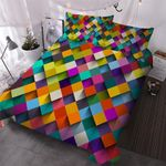 Rainbow Blocks Bedding Set PBOS YUY BUBL