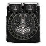 Viking Hammer With Wolf Bedding Set PCHD YUY BUBL