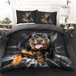 Rottweiler And Ice Bedding Set PCPI YUY BUBL
