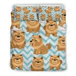 Little Brown Chow Chow Bedding Set PBIF YUY BUBL