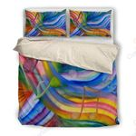 Colorful Rainbow Music Notes Bedding Set PCTP YUY BUBL
