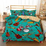 Music Instrument Printed Bedding Set PAXT YUY BUBL