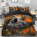 Orange Boar Tee Bedding Set PCGB YUY BUBL