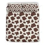 Brown And White Cow Bedding Set PBGG YUY BUBL