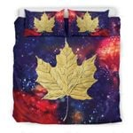 A Maple Leaf And Galaxy Bedding Set PBKY YUY BUBL