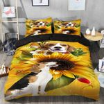 Beagle And Sunflower Bedding Set PBOV YUY BUBL