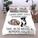 Border Collie Painting Bedding Set PATT YUY BUBL