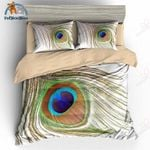 Peacock Feather Bedding Set PALX YUY BUBL