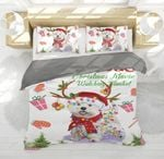 Westie Gorgeous Reindeer Christmas Bedding Set PCEF YUY BUBL