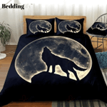 Wolf Howling In Full Moon Bedding Set PBVO YUY BUBL