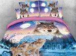Wolves And Snow Cover Scenery Bedding Set PCXO YUY BUBL