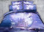 White Swans And Castle Bedding Set PCXL YUY BUBL