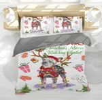 Heeler Gorgeous Reindeer Christmas Bedding Set PBBT YUY BUBL