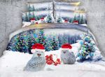 Lovely Christmas Owls D Bedding Set PAHL YUY BUBL