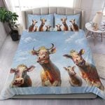 Cows Flower Bedding Set PCIG YUY BUBL