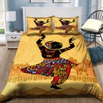 African Culture Dancing Pattern Bedding Set PBHW YUY BUBL
