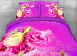 Yellow And Pink Roses Flower Fairy Bedding Set PBSF YUY BUBL