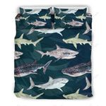Shark Pattern Print Bedding Set PABD YUY BUBL