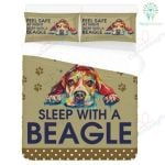 Feel Safe At Night Sleep With Beagle Bedding Set PALE YUY BUBL