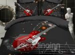 Fashion Guitar With Stave Bedding Set PANX YUY BUBL