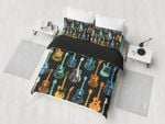 Colorful Guitars Music Musical Instruments Bedding Set PCNC YUY BUBL