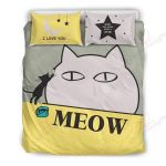 Kitten Is Painting Meow Bedding Set PBTW YUY BUBL