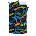 Colorful Shark Bedding Set PCQH YUY BUBL