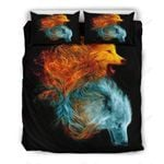 Wolf Spirit Cold And Fire Bedding Set PCUX YUY BUBL