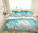 Weeds Flowers Blue Bedding Set PCFP YUY BUBL