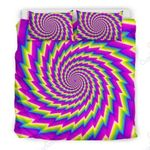 Abstract Twisted Moving Optical Illusion Bedding Set PCKJ YUY BUBL