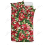 Poinsettia Pattern Print Bedding Set PBNF YUY BUBL