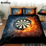Darts Board On Fire And Water Bedding Set PBJP YUY BUBL