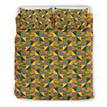 Kente Triangle African Print Bedding Set PCHA YUY BUBL