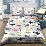Airplane Cla B Cotton Bed Sheets Spread Comforter Bedding Set PAAG YUY BUBL