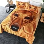 Dachshund Love Brown Dachshund Bedding Set PANW YUY BUBL