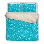 Music Notes Blue Bedding Set PACD YUY BUBL