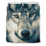 Wolf Head Beige Bedding Set PAFB YUY BUBL