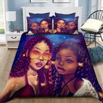 African American Two Pretty Girls Bedding Set PCLW YUY BUBL