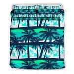 Blue Hibiscus Palm Tree Bedding Set PCAH YUY BUBL