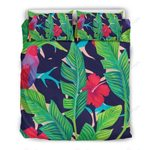 Parrot Banana Leaf Hawaii Pattern Bedding Set PBQT YUY BUBL