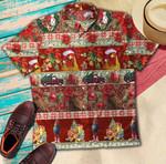 Red Chicken Christmas Hawaiian Shirt