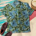 Blue Hibiscus Tropical Hawaiian Shirt