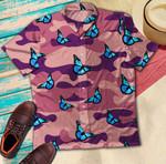 Butterfly On Pink Camo Hawaiian Shirt