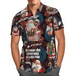 Santa Goes Fishing Christmas Hawaiian Shirt