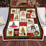 Christmas Is Coming Christmas Fleece Blanket