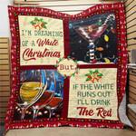 I am Dreaming Of White Christmas Fleece Blanket