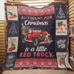 Red Truck Christmas Fleece Blanket