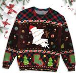 Louisiana Map Christmas Ugly Sweater